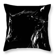 Night Riders Throw Pillow