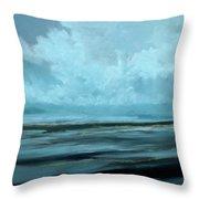 Night Sea Throw Pillow