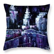 Night Town Cle Throw Pillow