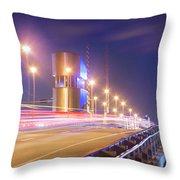Night Transit Throw Pillow