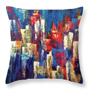 Nightlife Cleveland Throw Pillow