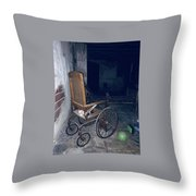 No One Ever Leaves Throw Pillow
