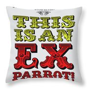 No01 My Silly Quote Poster Throw Pillow