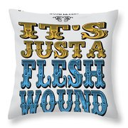 No02 My Silly Quote Poster Throw Pillow