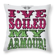 No03 My Silly Quote Poster Throw Pillow