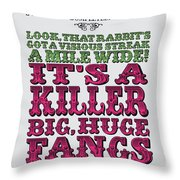 No06 My Silly Quote Poster Throw Pillow