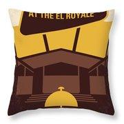 No1044 My Bad Times At The El Royale Minimal Movie Poster Throw Pillow