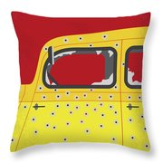 No1072 My Bonnie And Clyde Minimal Movie Poster Throw Pillow