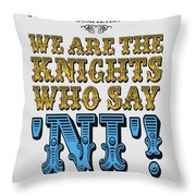 No11 My Silly Quote Poster Throw Pillow