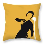 No224 My Edith Piaf Minimal Music Poster Throw Pillow