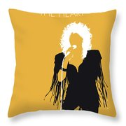 No264 My Bonnie Tyler Minimal Music Poster Throw Pillow