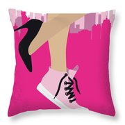 No987 My Working Girl Minimal Movie Poster Throw Pillow
