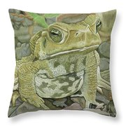 Noble Toad Throw Pillow