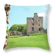 Norham Castle Tower Throw Pillow