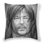 Norman Reedus Throw Pillow