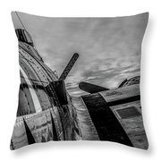 North American B-25 Mitchell Throw Pillow by Bob Orsillo