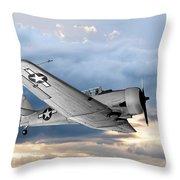 North American T-6 Texan Military Aircraft Throw Pillow