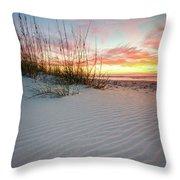North Beach Dunes Throw Pillow