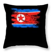 North Korea Shirt Gift Country Flag Patriotic Travel Asia Light Throw Pillow