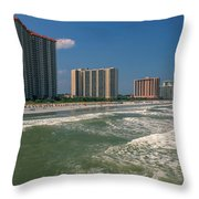 North Myrtle Beach Throw Pillow
