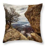 North Rim Fog 1 - Grand Canyon National Park - Arizona Throw Pillow