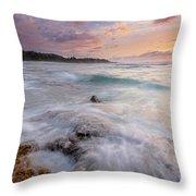 North Shore Sunset Surge Throw Pillow