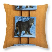 Northern Alberta  Lynx  Throw Pillow