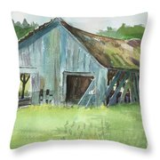 Northern State Farm, Skagit Valley Throw Pillow