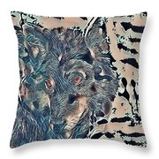 Not A Big Bad Wolf Throw Pillow