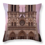 Notre Dame Cathedral Dawn Throw Pillow by Jemmy Archer