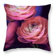 Ranunculus Trio Throw Pillow