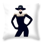 Nude Woman With Hat Throw Pillow