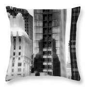 Nyc In Black And White Xv Throw Pillow