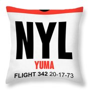 Nyl Yuma Luggage Tag I Throw Pillow