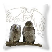 O Is For Owl Throw Pillow