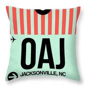Oaj Jacksonville Luggage Tag I Throw Pillow