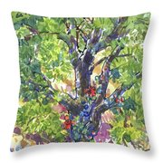 Oak And Poison Ivy Throw Pillow by Judith Kunzle