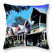 Oak Bluffs Martha's Vineyard Throw Pillow