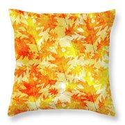 Oak Leaf Pattern Throw Pillow