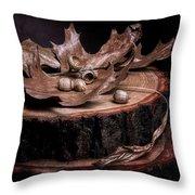 Oak Tree Still Life Throw Pillow