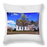 Oakland White Church Throw Pillow