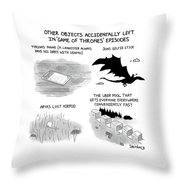 Objects Left In Game Of Thrones Episodes Throw Pillow