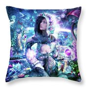 Observing Our Celestial Synergy Throw Pillow