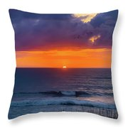 Obx Sunrise On The Last Day Throw Pillow by Lora J Wilson