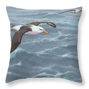 Ocean Flight Seabirds By Alan M Hunt Throw Pillow