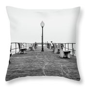 Ocean Grove Pier 1 Throw Pillow