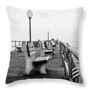 Ocean Grove Pier 2 Throw Pillow