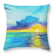 Ocean In The Morning Throw Pillow