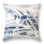 Ocean Rising Throw Pillow