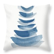 Ocean Zen 2 - Art By Linda Woods Throw Pillow
